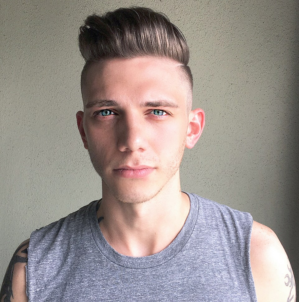 mens pompadour haircut tribeca salons South Tampa