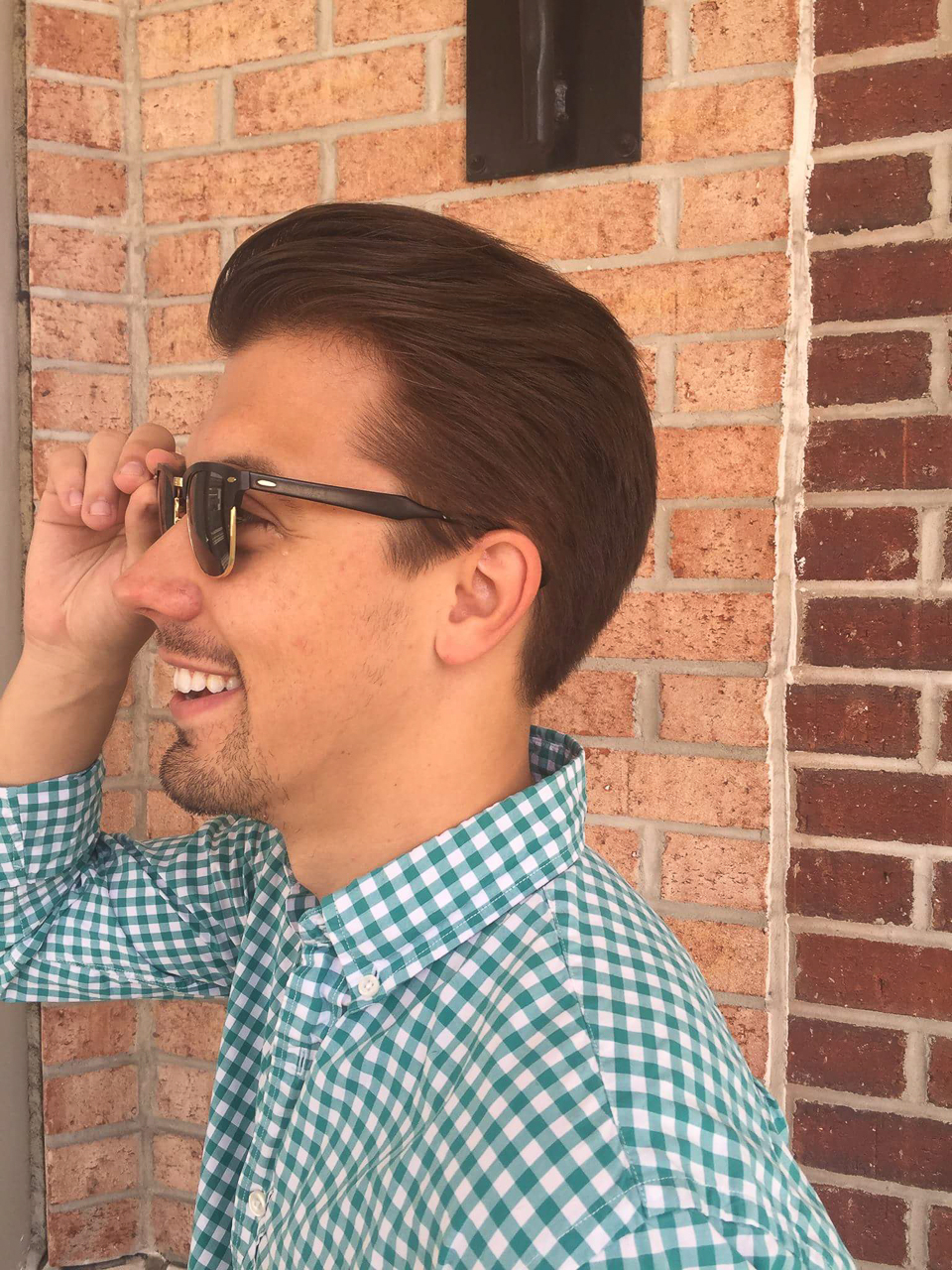 mens pompadour and sunglasses tribeca salon tampa