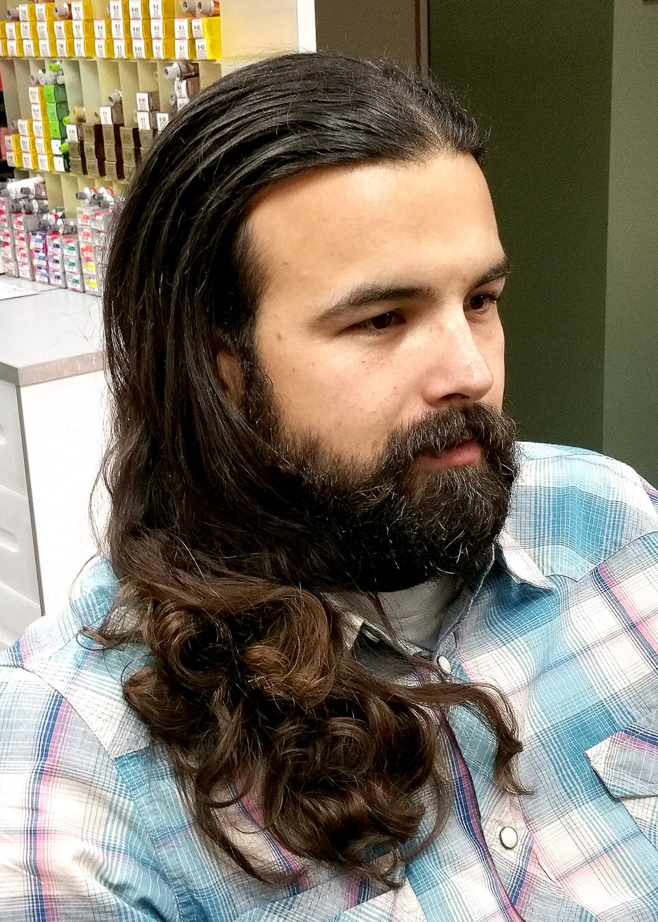 Before Mens Haircut in South Tampa Tribeca Salon