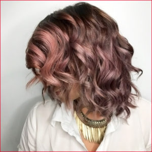 Chocolate Rose Gold Hair Color Trend Tribeca Salon