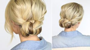 Braided Bun Beach Pool Day Hair Tribeca Salon