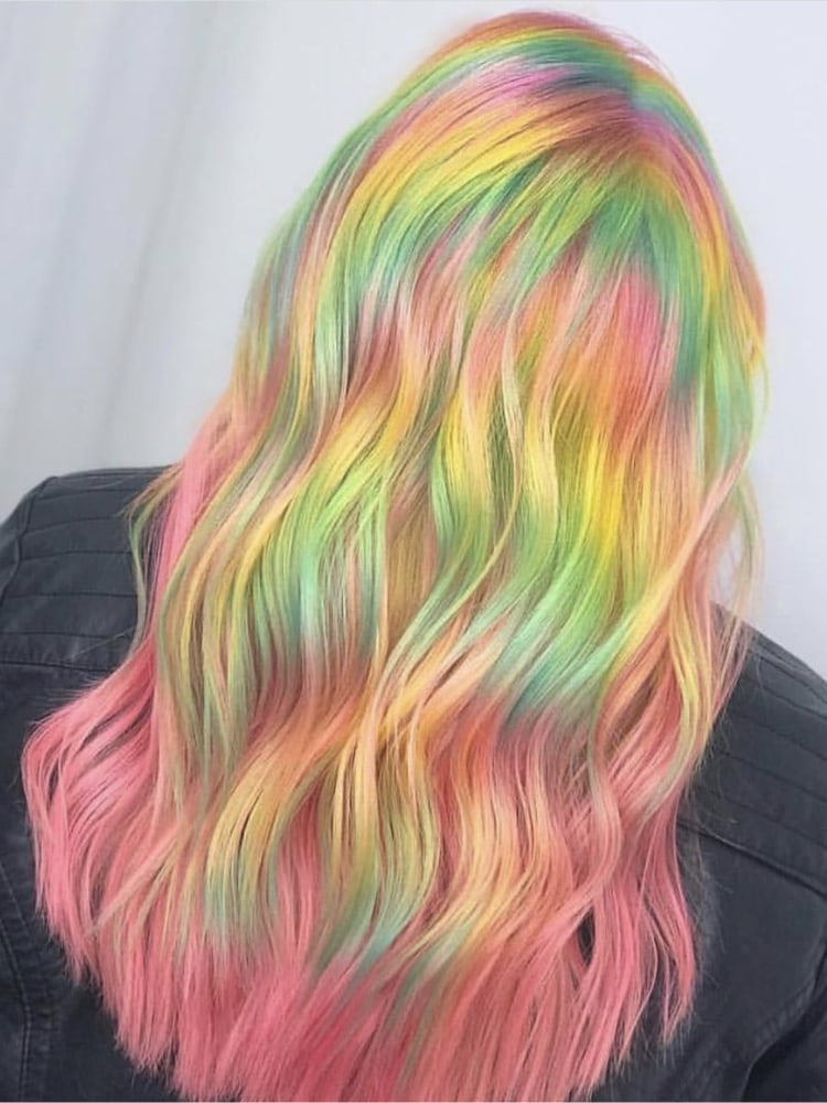 Rainbow Sherbet Fashion Color Tribeca Salons Hairstyle